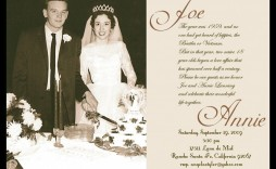 006 Dreaded 50th Wedding Anniversary Invitation Card Template Design  Templates Sample