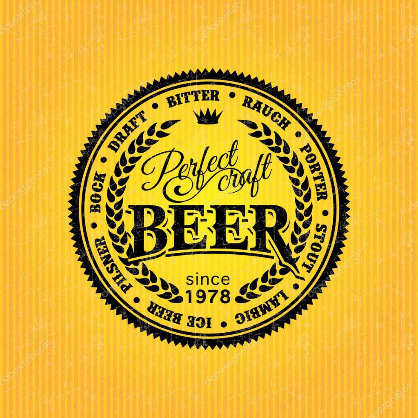 006 Dreaded Beer Label Design Template Image  Free1400