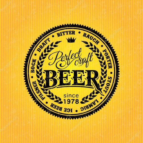 006 Dreaded Beer Label Design Template Image  Free480