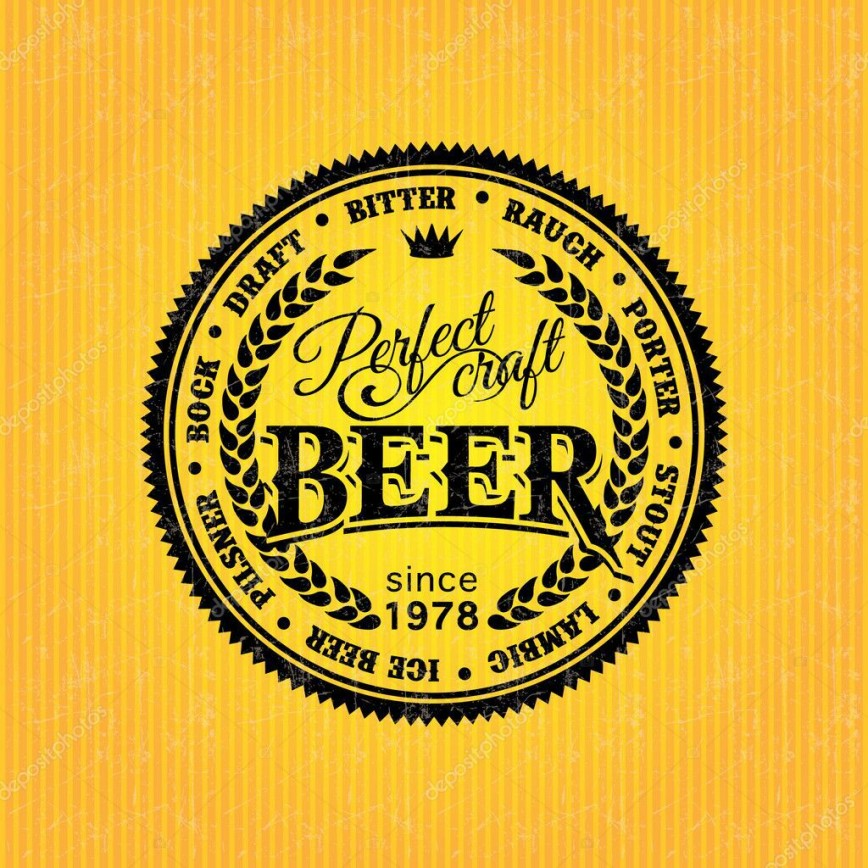 006 Dreaded Beer Label Design Template Image  Free868