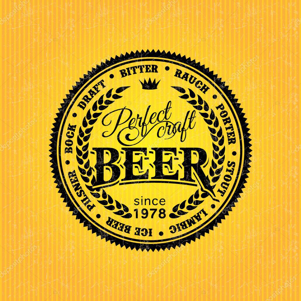 006 Dreaded Beer Label Design Template Image  FreeFull