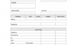 006 Dreaded Check Stub Template Free Picture  Pay Download Paycheck Word