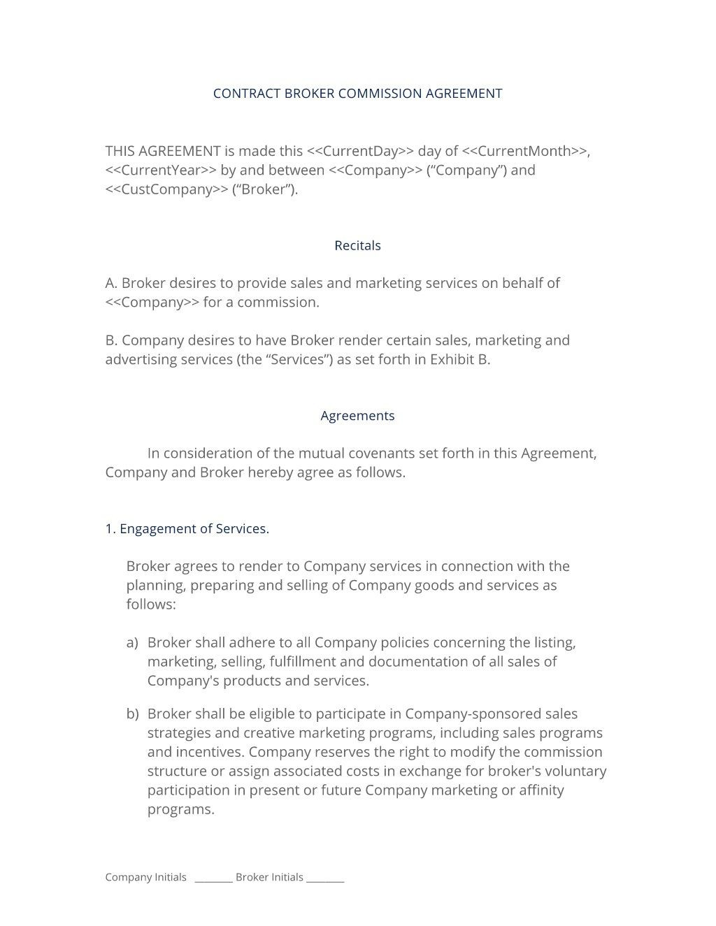 006 Dreaded Commission Sale Agreement Template Free Photo  Word InternationalLarge