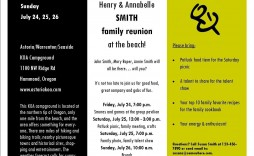 006 Dreaded Family Reunion Flyer Template High Resolution  Templates Free For
