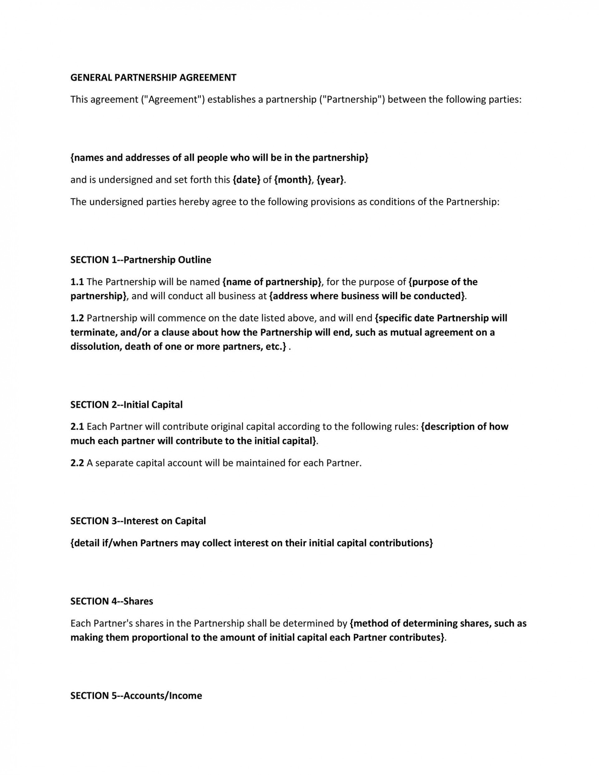 006 Dreaded Free Busines Partnership Agreement Template Concept  Online Nz Download1920