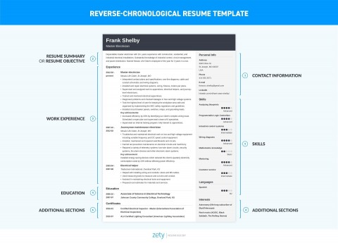 006 Dreaded Free Chronological Resume Template Idea  2020 Cv480