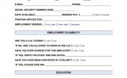 006 Dreaded Job Application Template Pdf High Definition  Employment Form California Restaurant Sri Lanka