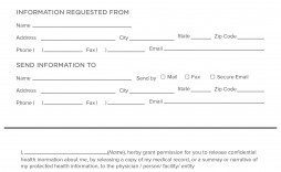 006 Dreaded Medical Record Request Form Template Picture  Free Release Authorization
