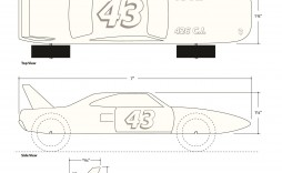 006 Dreaded Pinewood Derby Car Design Template Concept  Fast Wedge