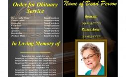 006 Dreaded Sample Template For Funeral Program Image