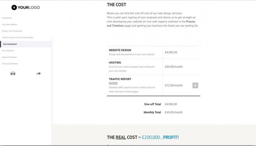 006 Dreaded Website Development Proposal Format Concept  Web Template Pdf Ecommerce Sample