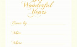 006 Excellent 50th Anniversary Invitation Template Picture  Templates Wedding Free Download Golden