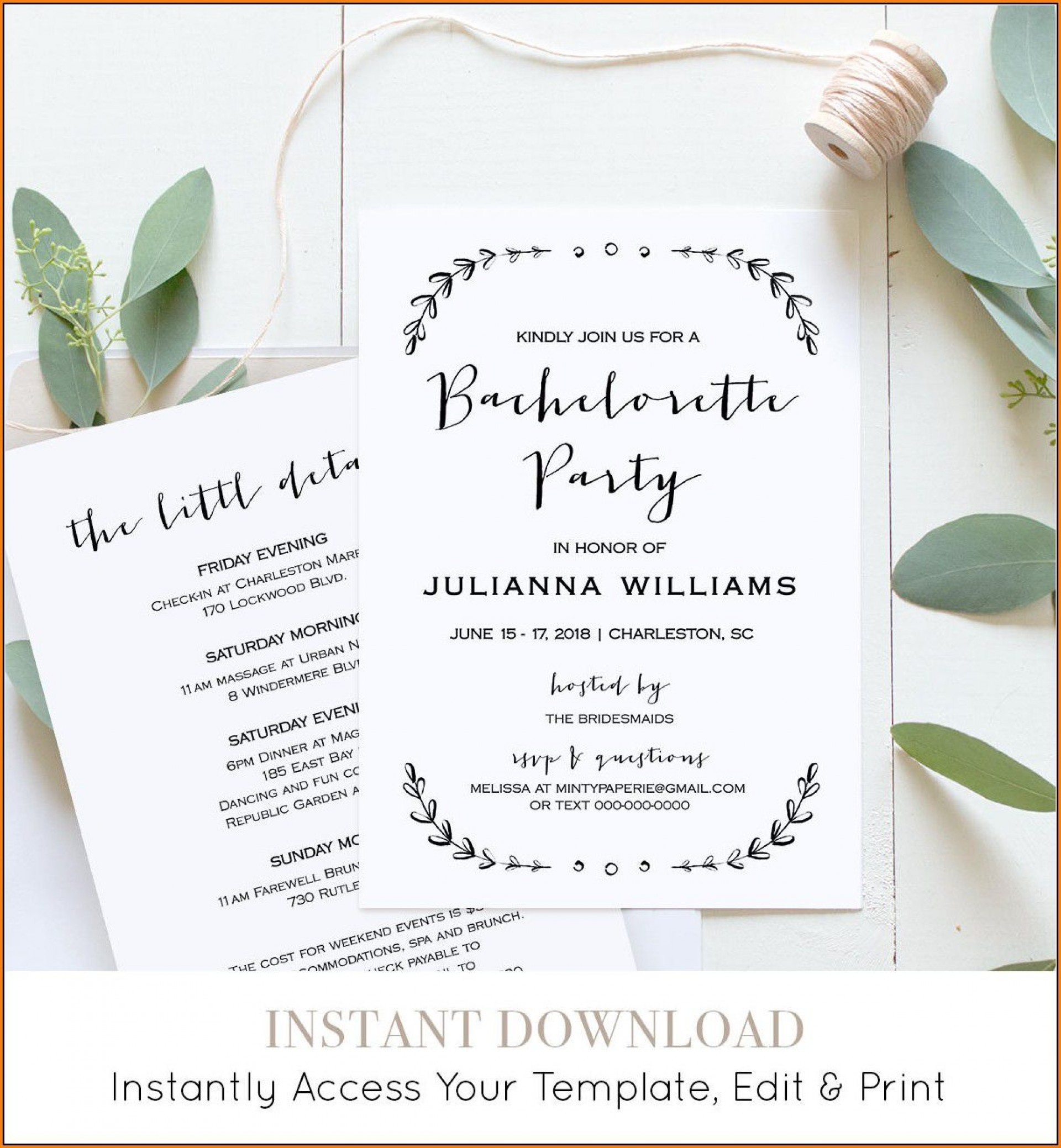 006 Excellent Bachelorette Party Itinerary Template Free Concept  Download1920