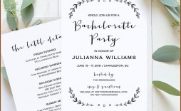 006 Excellent Bachelorette Party Itinerary Template Free Concept  Download