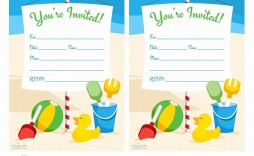 006 Excellent Birthday Invitation Template Word 2020 Concept