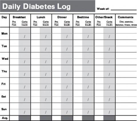 006 Excellent Blood Sugar Log Form Picture  Simple Glucose Sheet Excel Monthly480