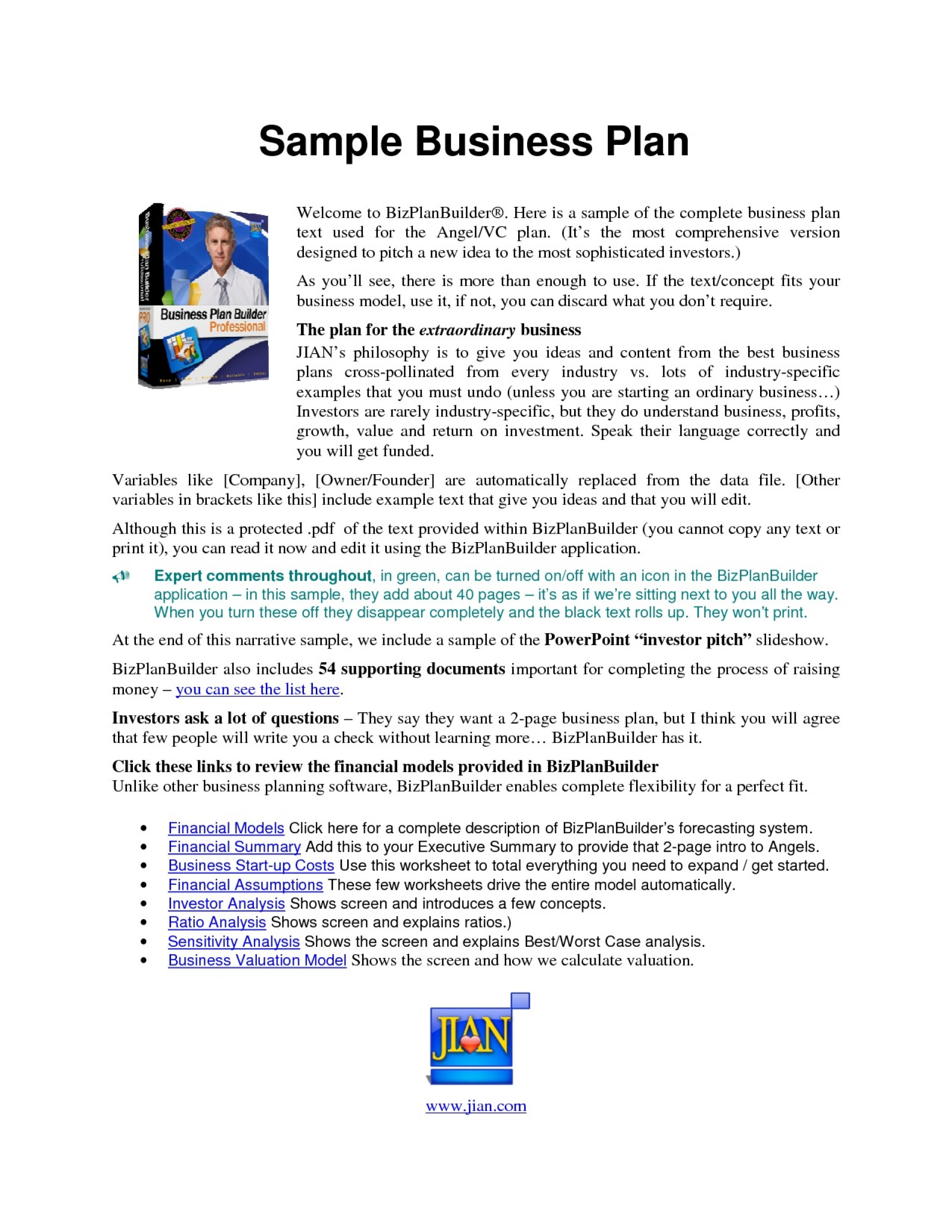 006 Excellent Busines Plan Template Pdf Design  Restaurant Sample Free Example Uk Doc1920