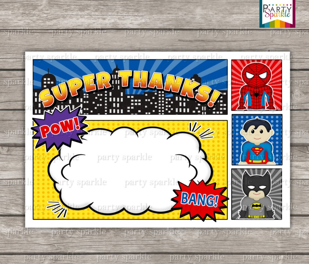 006 Excellent Editable Superhero Invitation Template Free Concept Large
