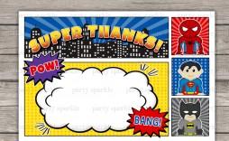 006 Excellent Editable Superhero Invitation Template Free Concept