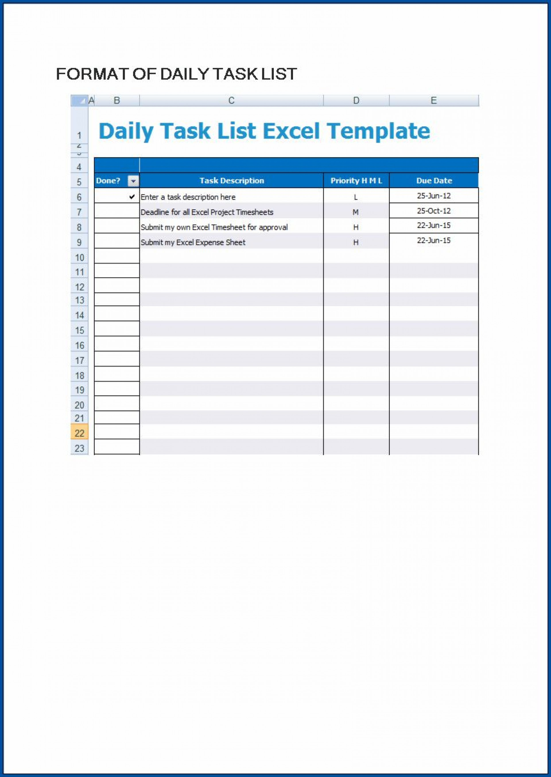 006 Excellent Excel To Do List Template Example  Xlsx Best1920