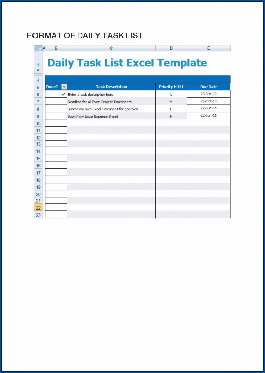 006 Excellent Excel To Do List Template Example  Daily Spreadsheet Task