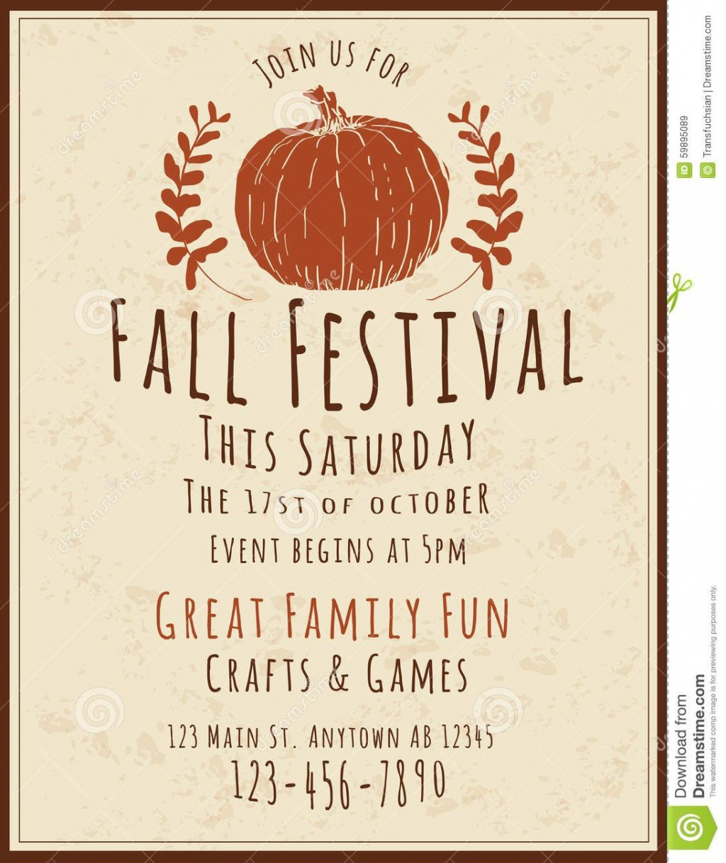 006 Excellent Fall Festival Flyer Template Idea  FreeLarge