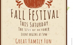 006 Excellent Fall Festival Flyer Template Idea  Free