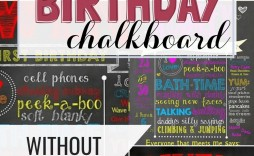 006 Excellent First Birthday Chalkboard Template Design  Diy Printable Free