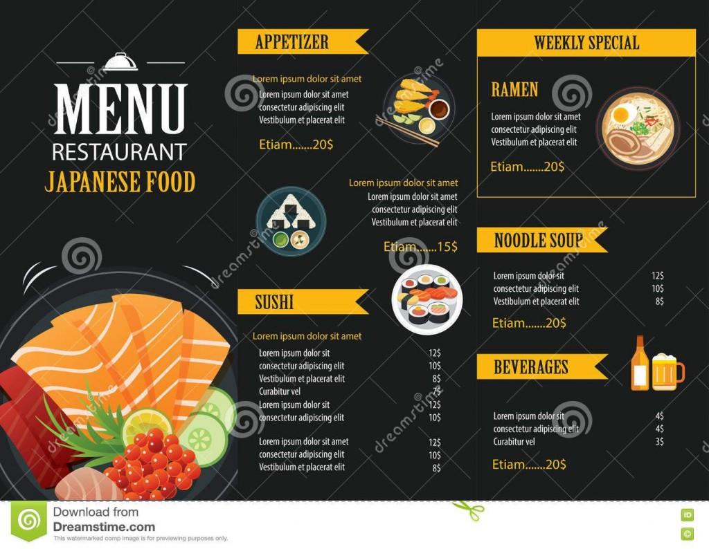 006 Excellent Food Menu Card Template Free Download Design Large