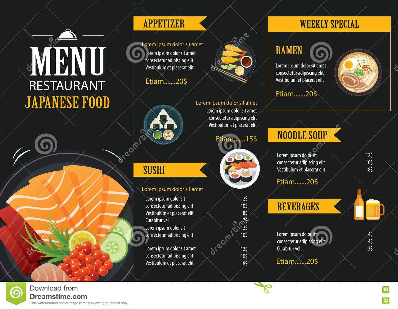 006 Excellent Food Menu Card Template Free Download Design Full