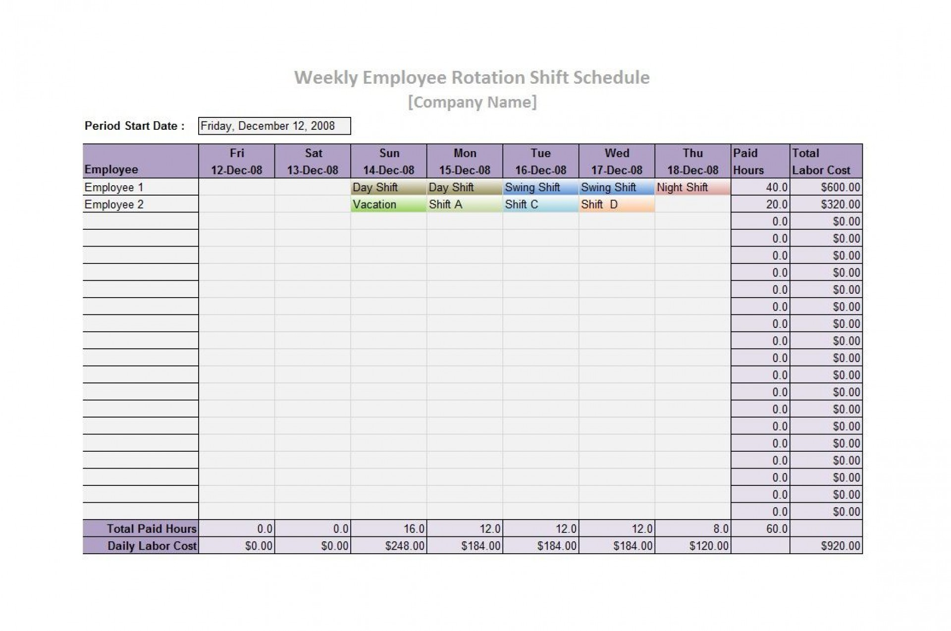 006 Excellent Free 12 Hour Rotating Shift Schedule Template Concept 1920
