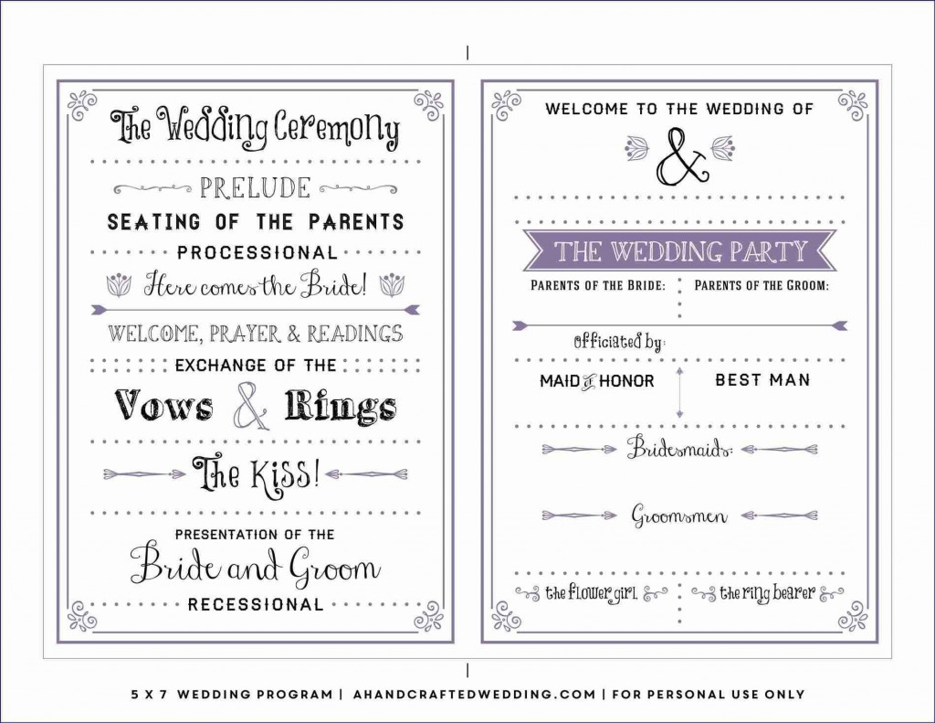 006 Excellent Free Downloadable Wedding Program Template High Definition  Templates That Can Be Printed Printable Fall ReceptionLarge