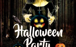 006 Excellent Free Halloween Party Flyer Template Inspiration  Templates