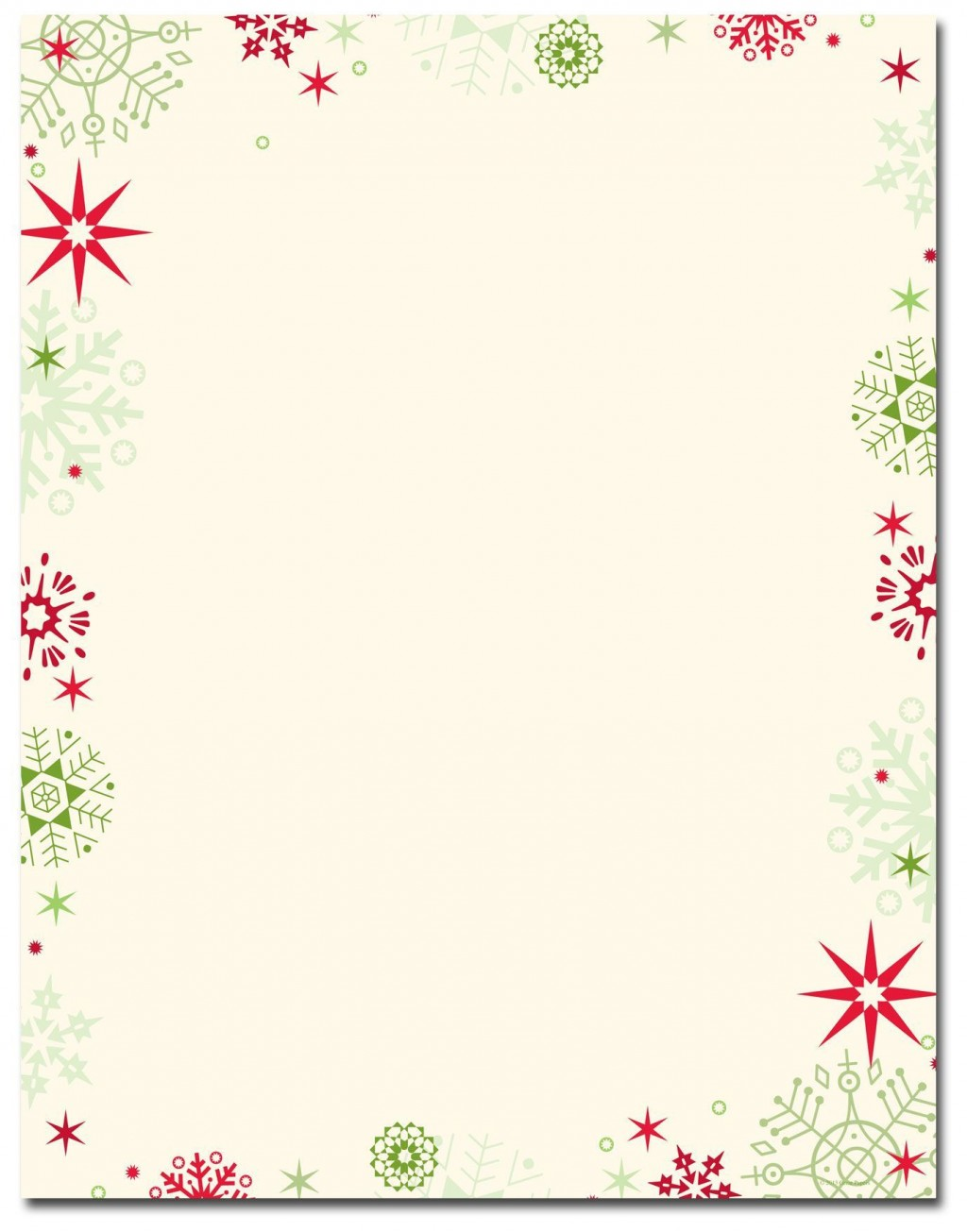 006 Excellent Free Holiday Stationery Template For Word Example Large