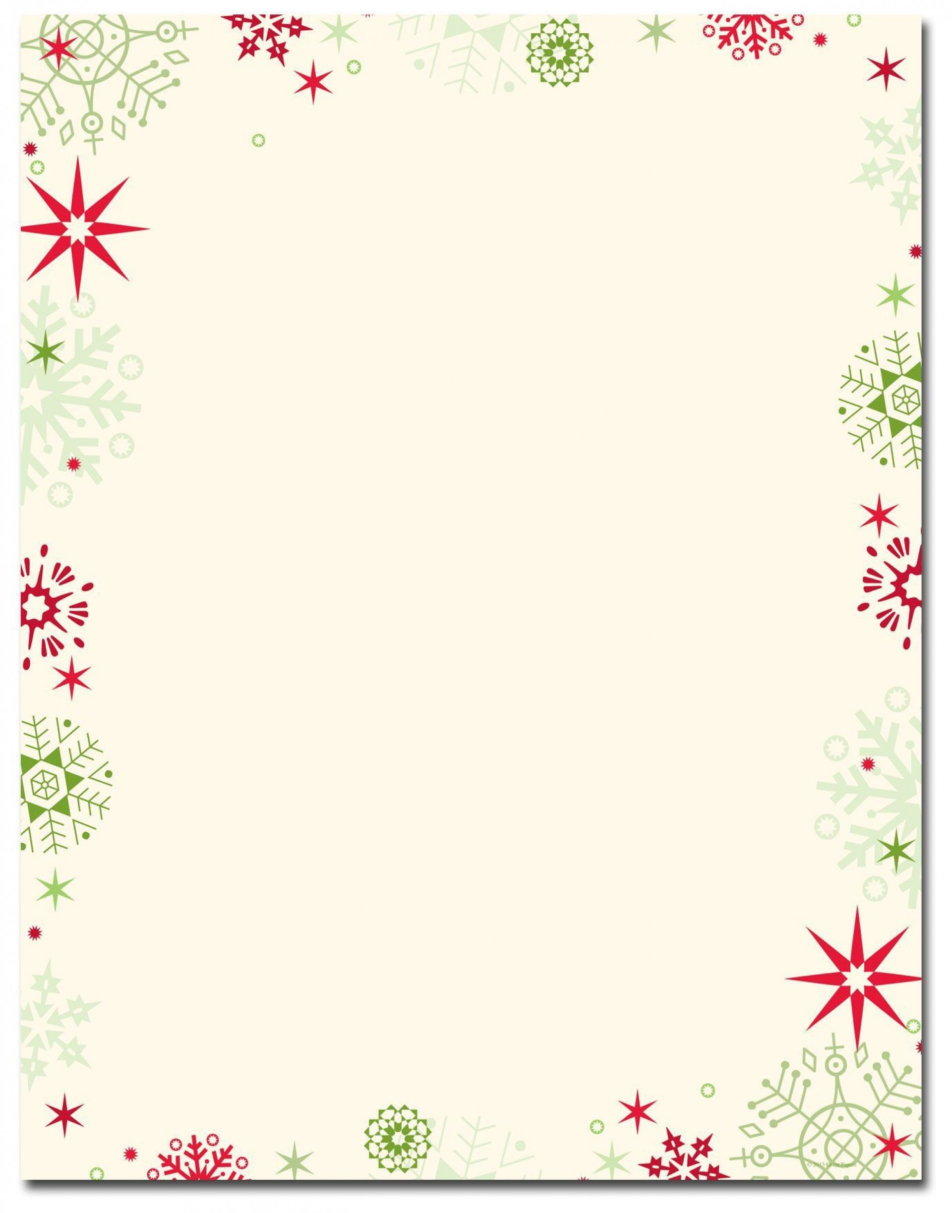 006 Excellent Free Holiday Stationery Template For Word Example 1920