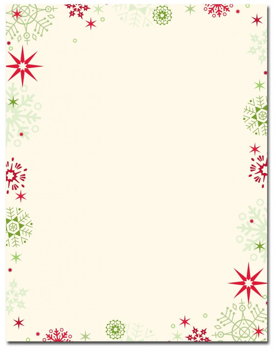 006 Excellent Free Holiday Stationery Template For Word Example 960