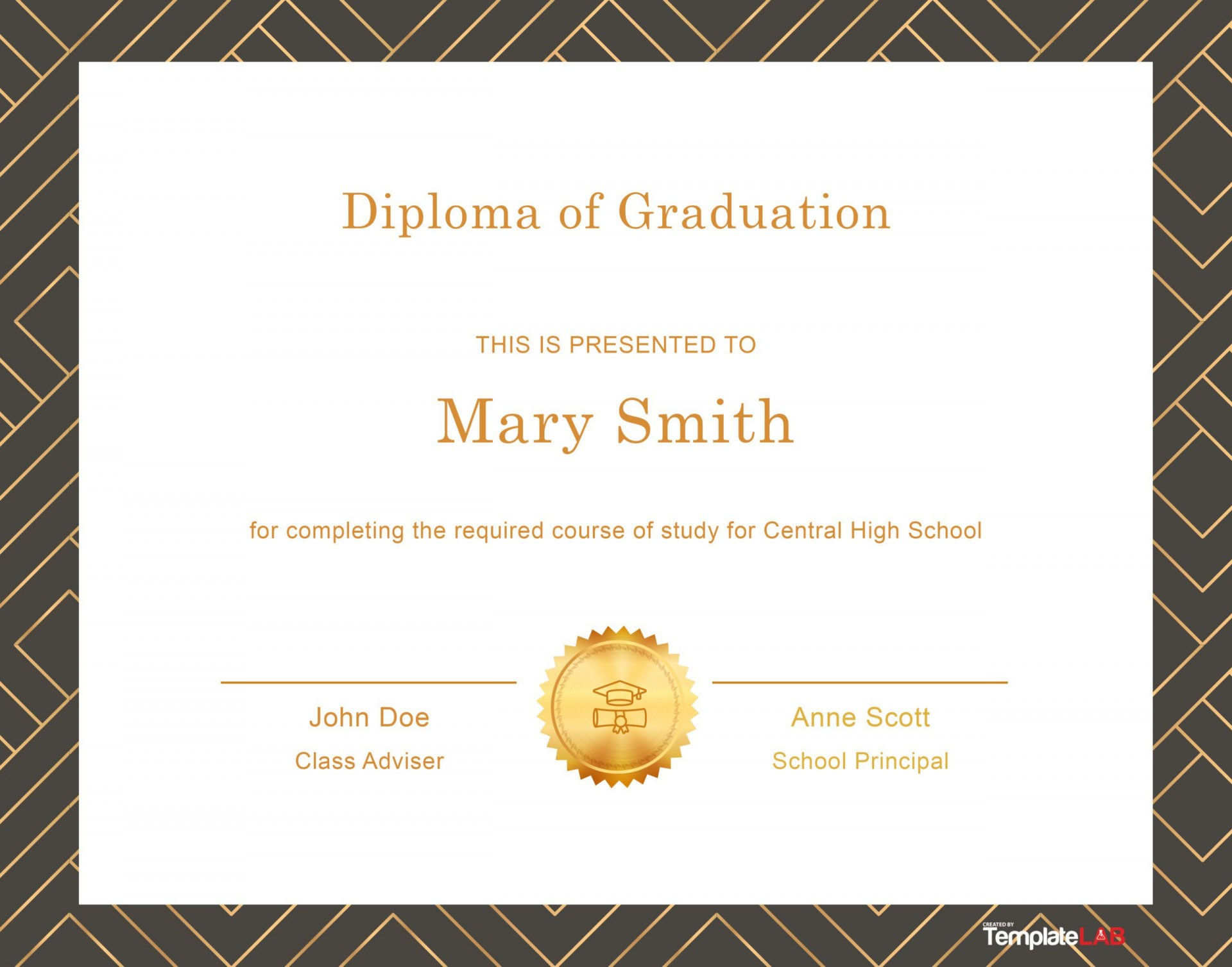 006 Excellent Free Printable High School Diploma Online Image 1920
