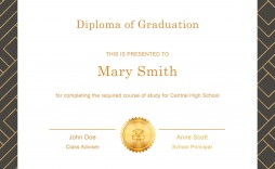 006 Excellent Free Printable High School Diploma Online Image