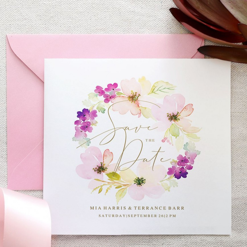 006 Excellent Free Save The Date Birthday Postcard Template High Def 868