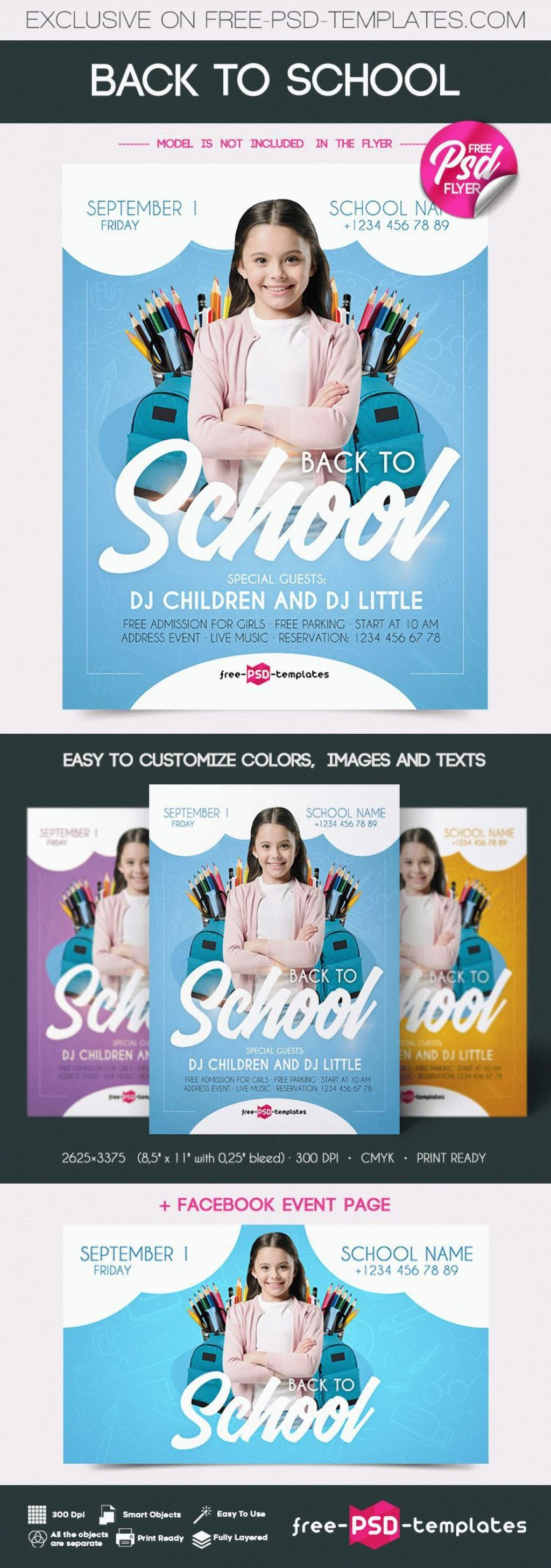 006 Excellent Free School Flyer Template Concept  Templates Vacation Bible For Microsoft Word EventLarge