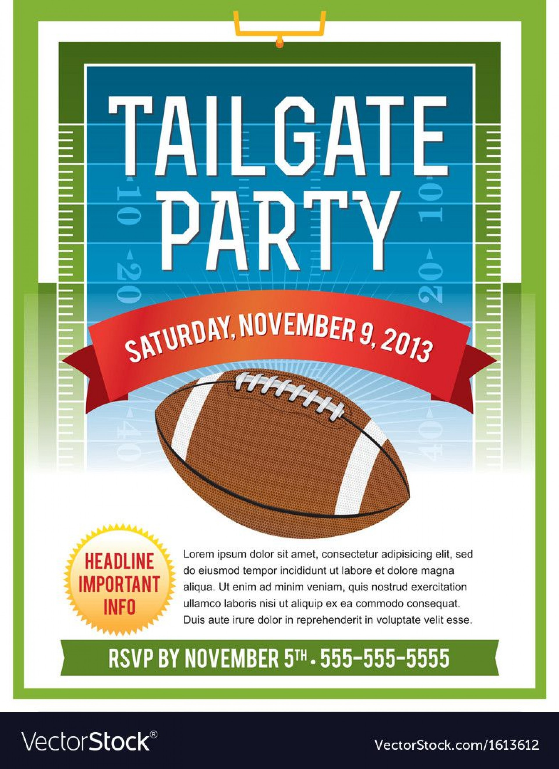 006 Excellent Free Tailgate Party Flyer Template Download Photo 1920
