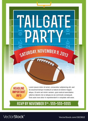 006 Excellent Free Tailgate Party Flyer Template Download Photo 360