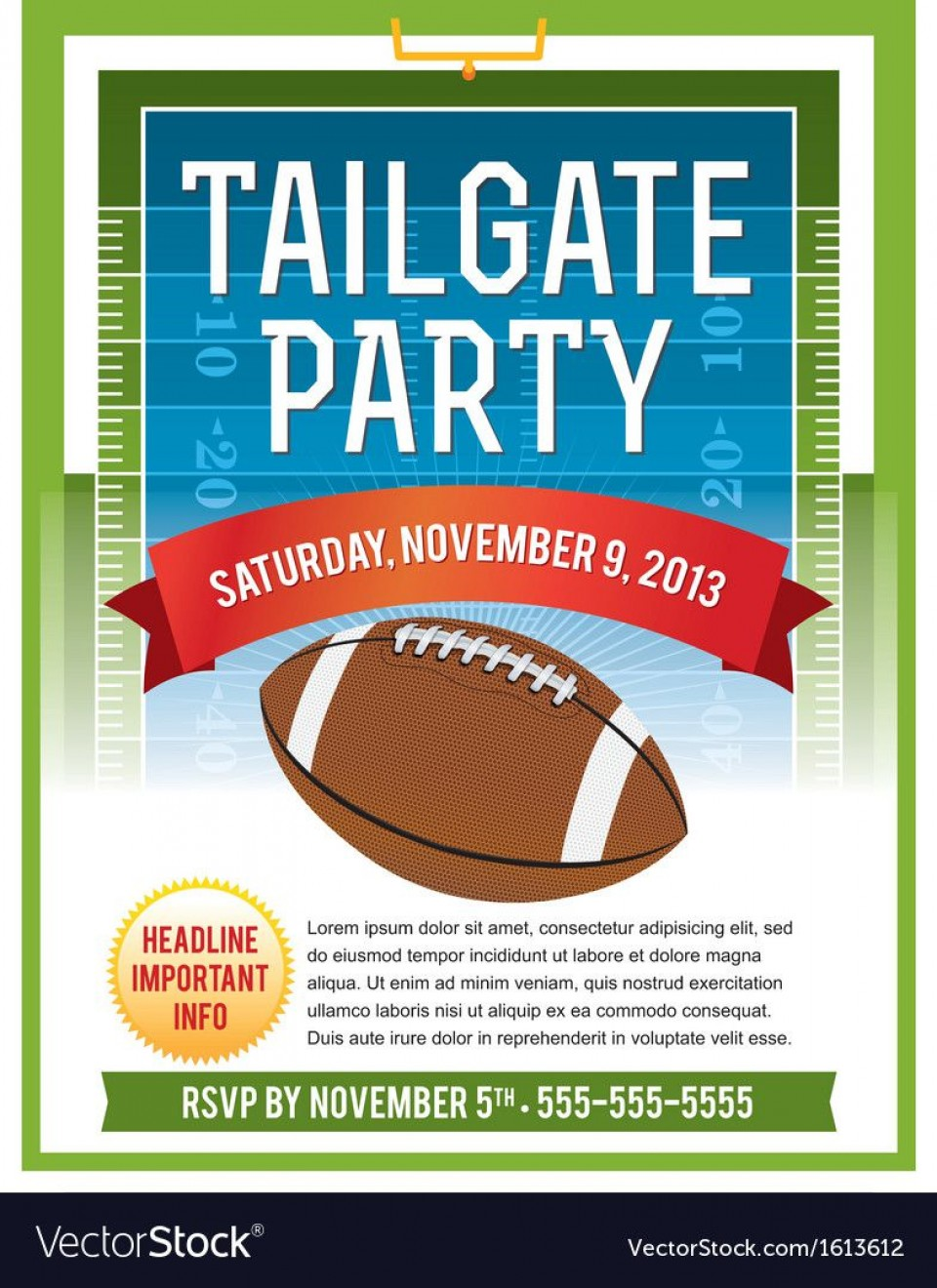 006 Excellent Free Tailgate Party Flyer Template Download Photo 960
