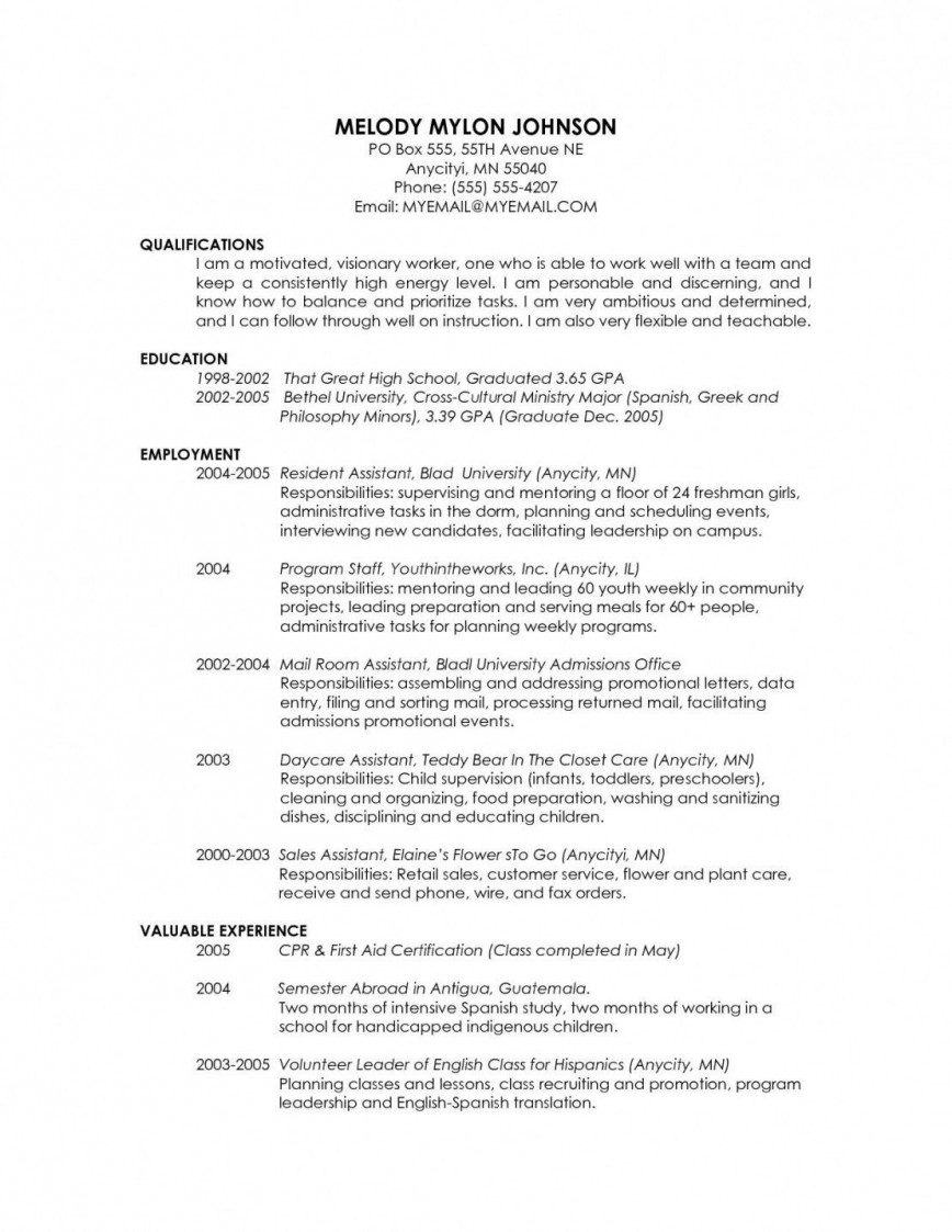 Grad School Resume Template Addictionary