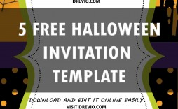 006 Excellent Halloween Party Invitation Template Concept  Templates Scary Spooky