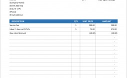 006 Excellent Invoice Excel Example Download