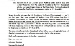 006 Excellent Letter Of Understanding Format In Gst Inspiration