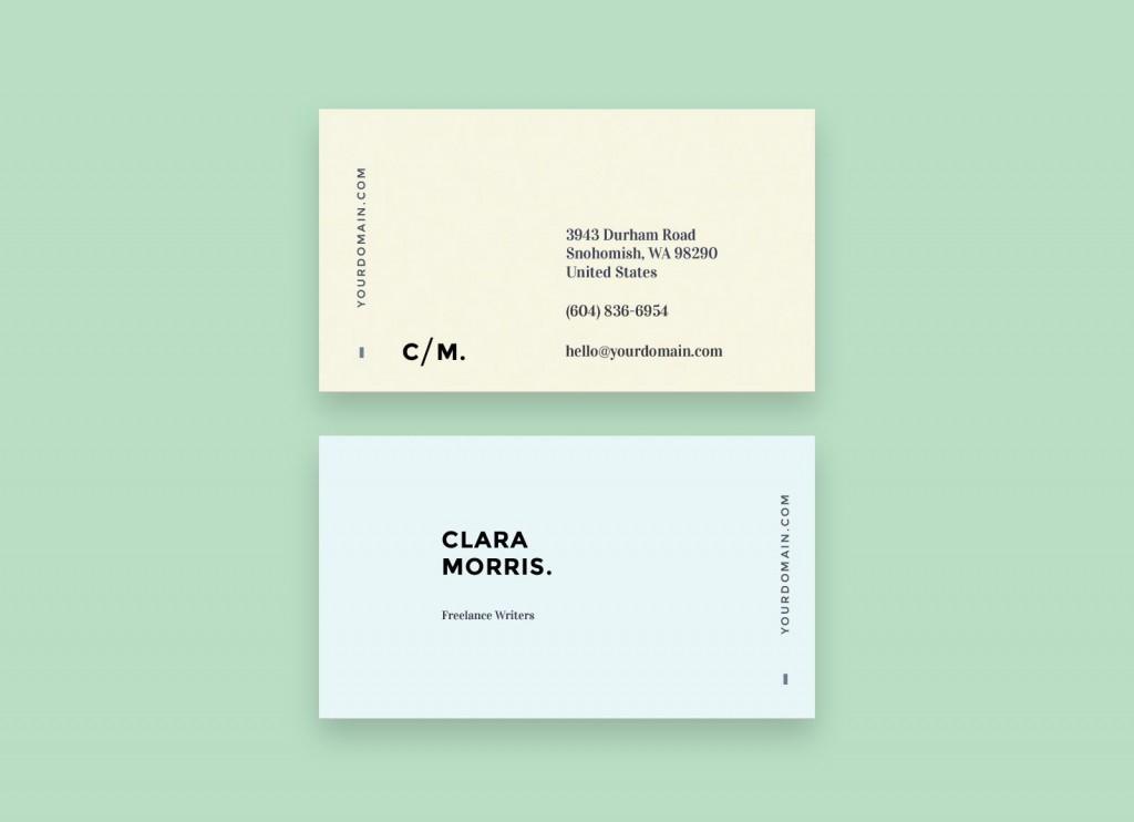 006 Excellent Minimalist Busines Card Template Free Sample  Minimal PsdLarge