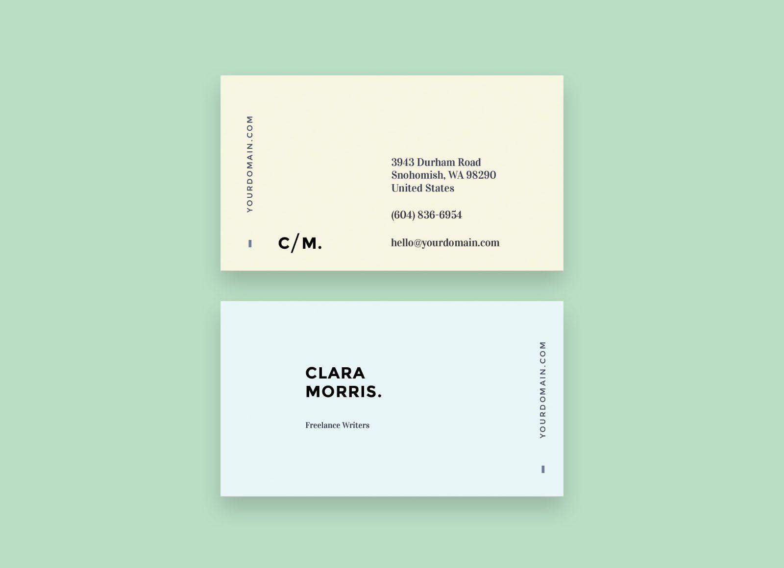 006 Excellent Minimalist Busines Card Template Free Sample  Minimal PsdFull