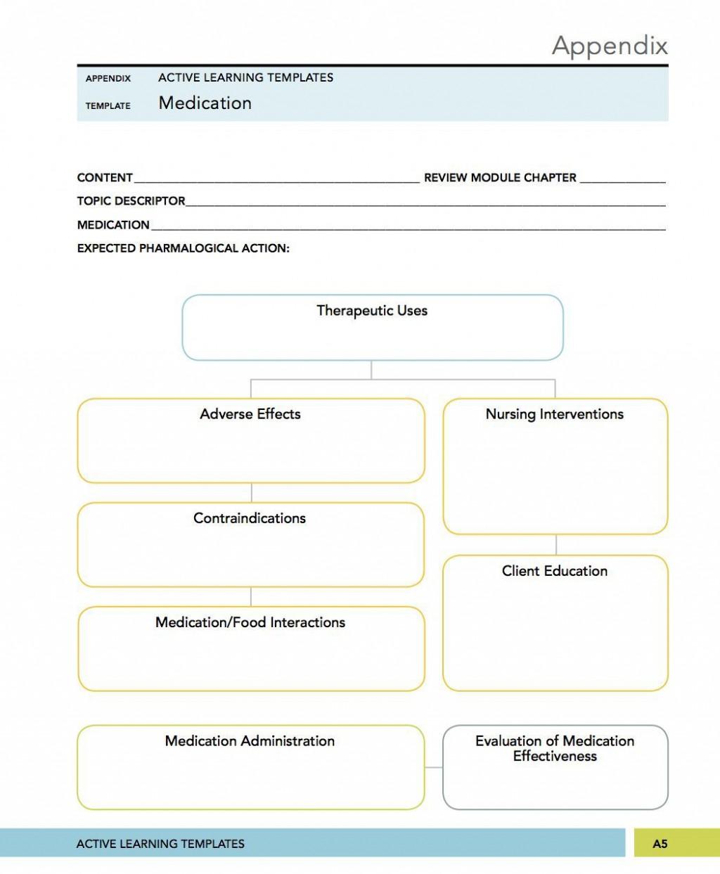 006 Excellent Nursing Drug Card Template High Definition  School Download PrintableLarge